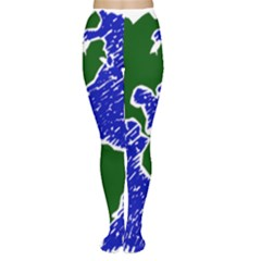 Globe Drawing Earth Ocean Tights by HermanTelo