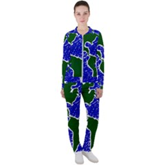 Globe Drawing Earth Ocean Casual Jacket And Pants Set