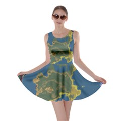Map Geography World Skater Dress
