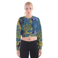 Map Geography World Cropped Sweatshirt by HermanTelo