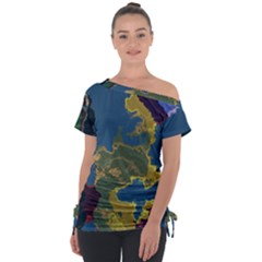 Map Geography World Tie-up Tee