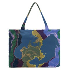 Map Geography World Zipper Medium Tote Bag by HermanTelo
