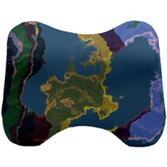 Map Geography World Head Support Cushion