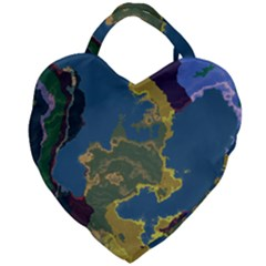Map Geography World Giant Heart Shaped Tote by HermanTelo