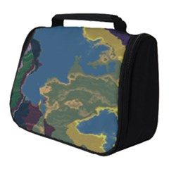 Map Geography World Full Print Travel Pouch (small)