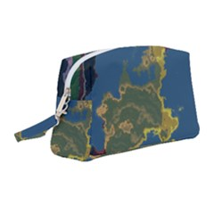 Map Geography World Wristlet Pouch Bag (medium) by HermanTelo
