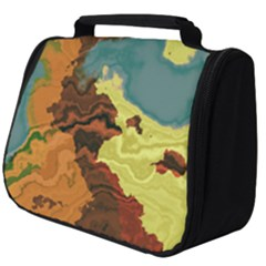 Map Geography World Yellow Full Print Travel Pouch (big)