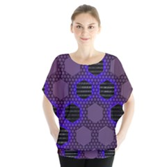 Networking Communication Technology Batwing Chiffon Blouse