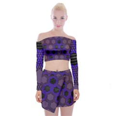 Networking Communication Technology Off Shoulder Top With Mini Skirt Set
