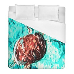 Tortoise Marine Animal Shell Sea Duvet Cover (full/ Double Size) by HermanTelo