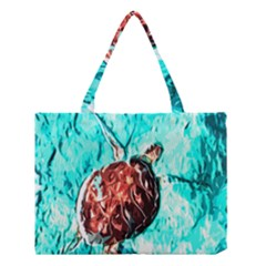 Tortoise Marine Animal Shell Sea Medium Tote Bag