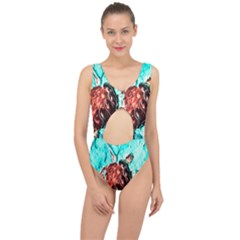 Tortoise Marine Animal Shell Sea Center Cut Out Swimsuit