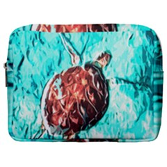 Tortoise Marine Animal Shell Sea Make Up Pouch (large) by HermanTelo