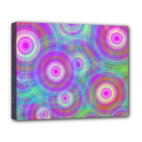 Circle Colorful Pattern Background Deluxe Canvas 20  X 16  (stretched)
