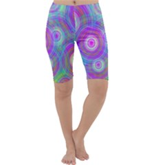 Circle Colorful Pattern Background Cropped Leggings