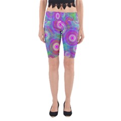 Circle Colorful Pattern Background Yoga Cropped Leggings