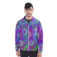 Circle Colorful Pattern Background Men s Windbreaker