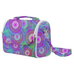 Circle Colorful Pattern Background Satchel Shoulder Bag