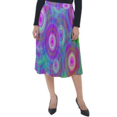 Circle Colorful Pattern Background Classic Velour Midi Skirt