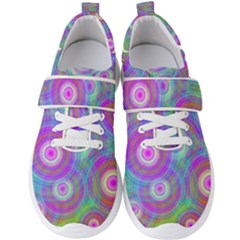 Circle Colorful Pattern Background Men s Velcro Strap Shoes by HermanTelo