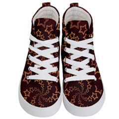 Gold Stars Spiral Chic Kids  Hi Top Skate Sneakers