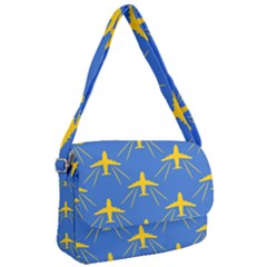 Aircraft Texture Blue Yellow Courier Bag