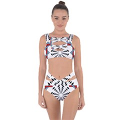 Star Illusion Mandala Bandaged Up Bikini Set  by HermanTelo