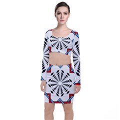 Star Illusion Mandala Top And Skirt Sets