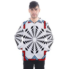 Star Illusion Mandala Men s Half Zip Pullover