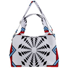 Star Illusion Mandala Double Compartment Shoulder Bag