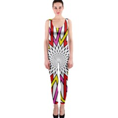Sun Abstract Mandala One Piece Catsuit by HermanTelo