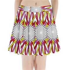 Sun Abstract Mandala Pleated Mini Skirt