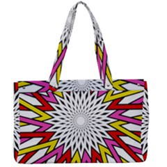 Sun Abstract Mandala Canvas Work Bag by HermanTelo