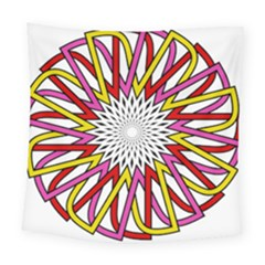 Sun Abstract Mandala Square Tapestry (large) by HermanTelo