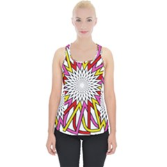 Sun Abstract Mandala Piece Up Tank Top
