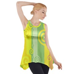 Ring Kringel Background Abstract Yellow Side Drop Tank Tunic