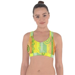 Ring Kringel Background Abstract Yellow Cross String Back Sports Bra