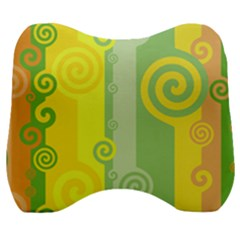 Ring Kringel Background Abstract Yellow Velour Head Support Cushion