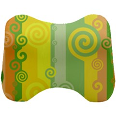 Ring Kringel Background Abstract Yellow Head Support Cushion
