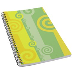 Ring Kringel Background Abstract Yellow 5 5  X 8 5  Notebook