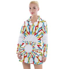 Wheel Complex Symbol Mandala Women s Long Sleeve Casual Dress