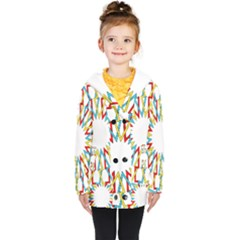 Wheel Complex Symbol Mandala Kids  Double Breasted Button Coat