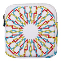 Wheel Complex Symbol Mandala Mini Square Pouch