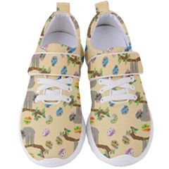 Sloth Neutral Color Cute Cartoon Women s Velcro Strap Shoes by HermanTelo