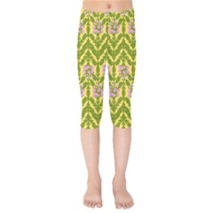 Texture Nature Erica Kids  Capri Leggings  by HermanTelo
