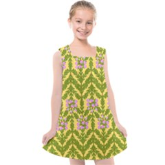 Texture Nature Erica Kids  Cross Back Dress by HermanTelo