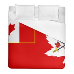 Flag Of The Canadian Army Duvet Cover (full/ Double Size) by abbeyz71