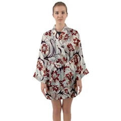 Modern Floral Pattern Long Sleeve Kimono Robe by tarastyle