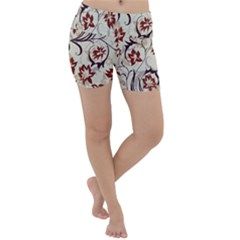 Modern Floral Pattern Lightweight Velour Yoga Shorts by tarastyle