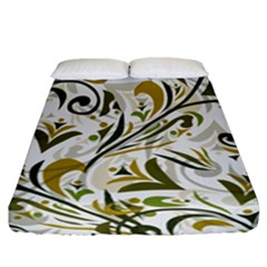Modern Floral Pattern Fitted Sheet (california King Size) by tarastyle